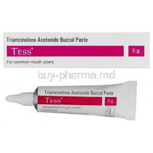 Generic  Nasacort Ointment, Triamcinolone Aceto 0.1% 5 gm Ointment box and tube