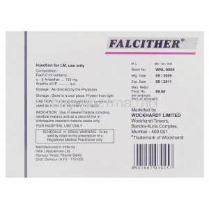 Falchither, Arteether Injection Wockhardt Box Information