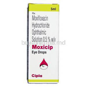 Moxicip, Moxifloxacin Hcl 0.5% 5 Ml Ophthalmic Solution (Cipla) Box