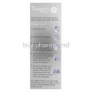 Tugain Solution 2, Minoxidil Topical Solution 2% 60ml Box Directions for Use