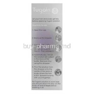 Tugain Solution 5, Minoxidil Topical Solution 5% 60ml Box Directions for Use