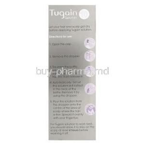 Tugain Solution 10, Minoxidil Topical Solution 10% 60ml Box Directions for Use