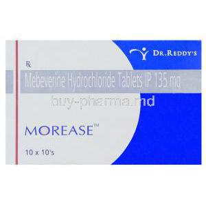 Morease, Generic Colospa Mebeverine 135 mg Tablet Box