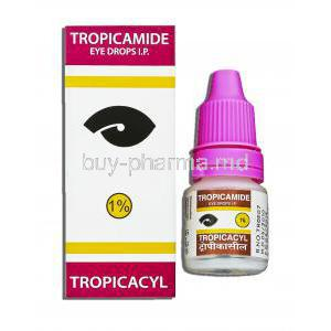 Tropicacyl, Generic Mydriacyl,  Tropicamide 1% 5 Ml Ophthalmic Solutions Eye Drops (Sunways)