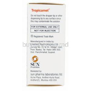 Tropicamet, Generic Mydriacyl, Tropicamide 1% Eye Drops 5ml Box Manufacturer