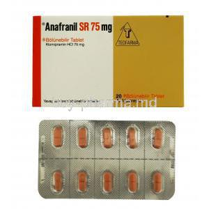 Anafranil, Clomipramine 10mg 20tabs, teofarma, packaging and blister