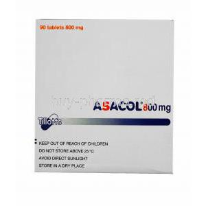 Asacol, Mesalazine, 90tabs 800mg, packaging instructions