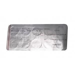 Pentasa, Mesalazine tablets back