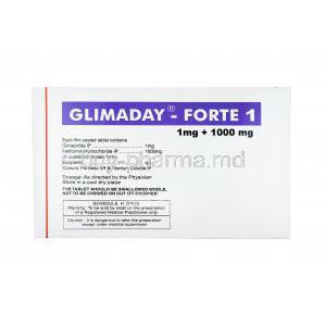 Glimaday Forte, Glimepiride and Metformin 1mg dosage