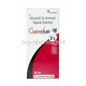 Gainehair Solution, Aminexil/ Minoxidil
