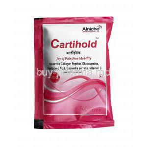 Cartihold Sachet, Glucosamine Sulphate Potassium Chloride/ Vitamin C/ Hyaluronic Acid
