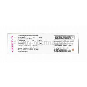 Offet D, Domperidone and Omeprazole manufacturer