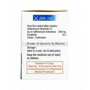 Xith, Azithromycin dosage
