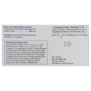 Erythromycin Tablet Box
