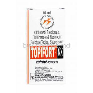 Topifort-NX Topical Suspension, Clotrimazole, Clobetasol and Neomycin