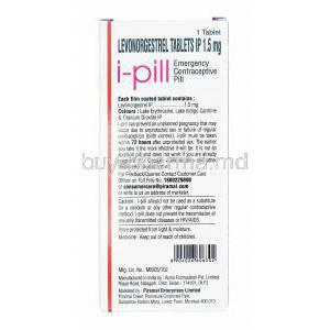 i-Pill, Levonorgestrel direction for use