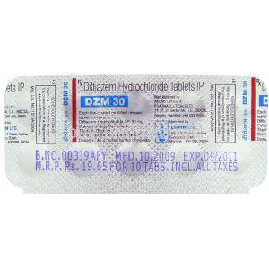 Generic  Tiazac,  Diltiazem Hydrochloride Tablet Packaging Information