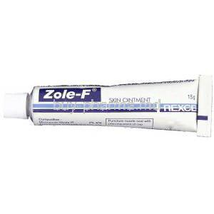 Zole-F, Miconazole Nitrate/ Fluocinolone Acetonide 2%/ 0.01% 15 gm Ointment tube
