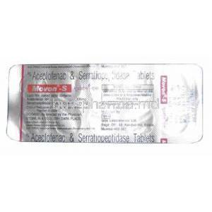 Aceclofenac/ Serratiopeptidase Tablet