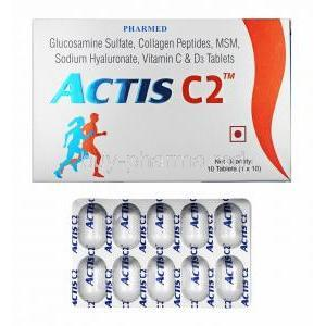 Actis C2, Sodium Hyaluronate/ Glucosamine/ Collagen Peptide/ Methyl Sulfonyl Methane/ Vitamin C/ Vitamin D