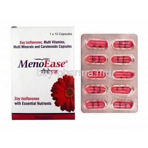 Menoease, box and capsules