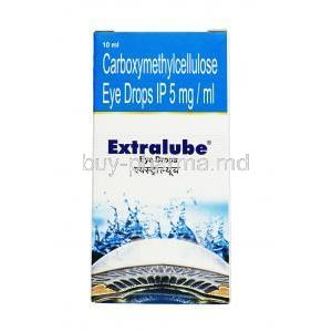 Extralube eye drop, 	Carboxymethylcellulose