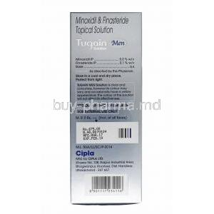 Tugain Men Solution, Minoxidil and Finasteride composition