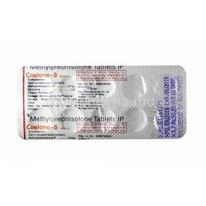 Coelone, Methylprednisolone 8mg tablet back