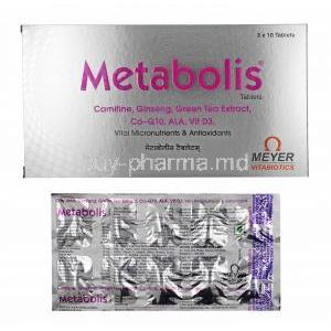 Metabolis, box and tablets