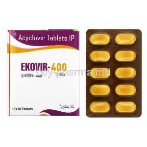 Ekovir, Acyclovir 400mg box and tablets
