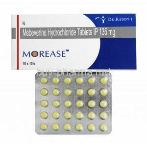 Morease, Mebeverine 135mg box and tablets