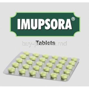 Imupsora box and tablets