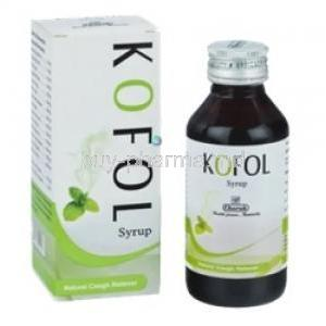 Kofol Syrup box and bottle