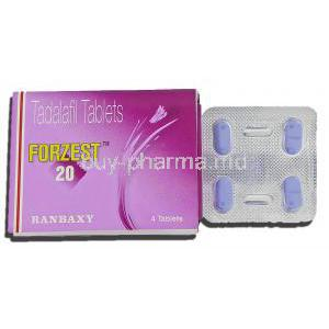 Forzest, Tadalafil 20mg Tablets
