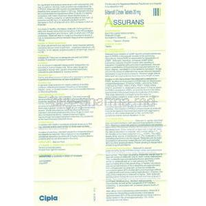 Assurans, Generic Revatio, Sildenafil Information Sheet 1