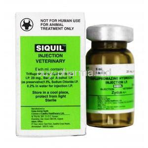 SIQUIL Injection, Triflupromazine 20mg, 5ml, Box and bottle