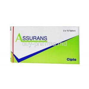 Assurans, Generic Revatio, Sildenafil, Box