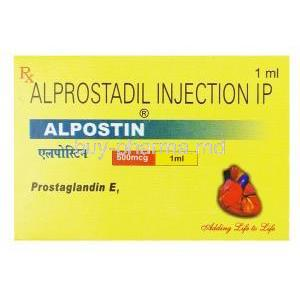 Alpostin, Alprostadil Injection Ip, 1ml, 500mcg Box