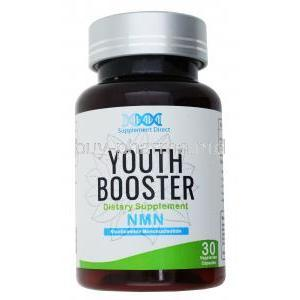 Youth Booster, Dietary Supplement, NMN, Nicotinamide Mononucleotide, 30 capsules, bottle front