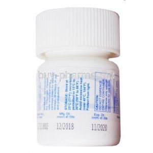 Lomoother, Lomustine Capsules IP 40mg, 6 capsules, Therdose Pharma Pte ltd, Bottle side presentation