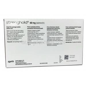 STRONGHOLD (GB) For Small Dogs 60mg (5.1-10.0 kg) 0.50ml x 6 PIpettes, Box information, Manufacturer, Instruction before use