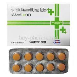 Aldonil OD, Epalrestat 150mg box and tablet