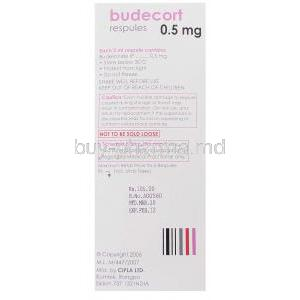 Budecort, Generic  Pulmicort,  Budesonide Respule Box Information