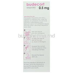 Budecort, Generic  Pulmicort,  Budesonide Respule Box Direction