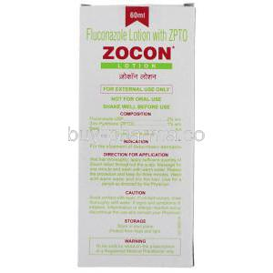 Zocon,  Generic  Diflucan,  Fluconazole 60 Ml Lotion Box Information
