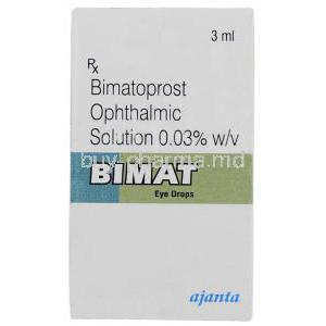 Bimat , Bimatoprost  Eye drops box
