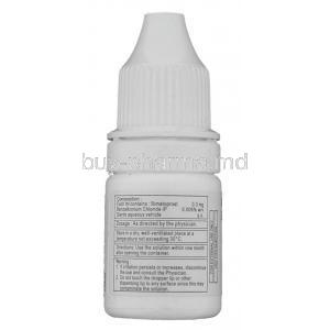 Bimat , Bimatoprost Eye drops bottle information