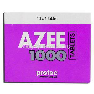 Azee, Generic Zithromax,   Azithromycin 1000 Mg Tablet (Protec) Box
