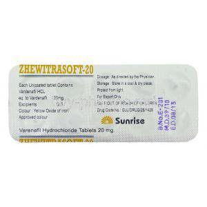 Zhewitra,  Soft tablet