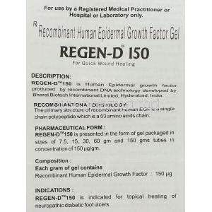 Regen-D 150 Gel information sheet 1